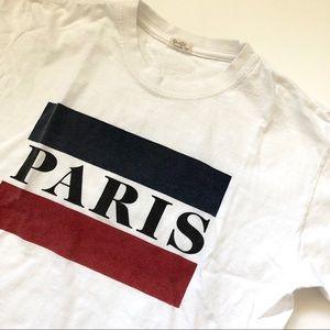 Brandy Melville White Paris tee